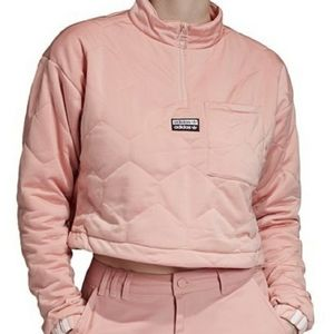 Adidas Pink Quilted Crop Jacket NWT